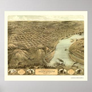 St. Joseph, MO Panoramic Map - 1868 Poster