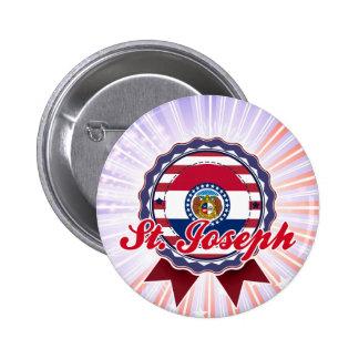 St Joseph MO Pinback Button