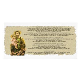 St Joseph Novena Photo Card