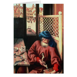 St. Joseph Portrayed as a Medieval Carpenter Cards