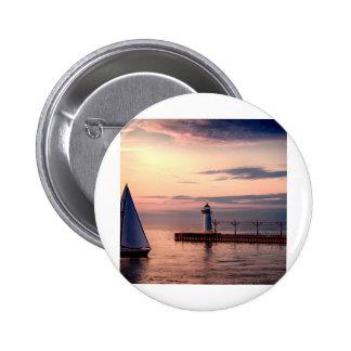 St Joseph Sailboat Pinback Buttons