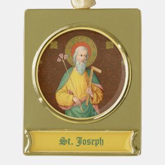 St. Joseph (SAU 35) Gold Plated Banner Ornament