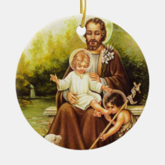 St. Joseph/St. Therese Double Sided Ornament