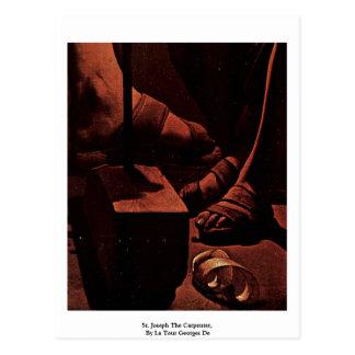 St. Joseph The Carpenter,  By La Tour Georges De Post Card