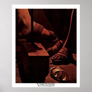 St. Joseph The Carpenter,  By La Tour Georges De Print