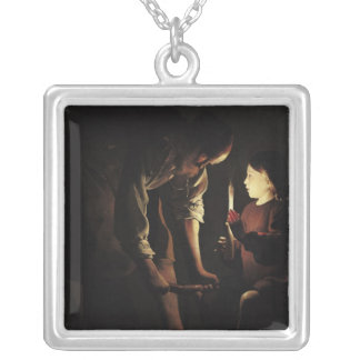 St. Joseph, the Carpenter, c.1640 Silver Plated Necklace