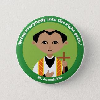 St. Joseph Vaz 6 Cm Round Badge