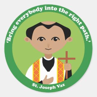 St. Joseph Vaz Classic Round Sticker