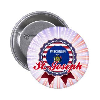 St Joseph WI Button
