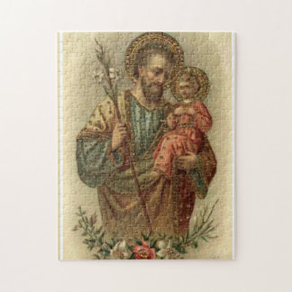 St.Joseph with the Baby Jesus Lilies Jigsaw Puzzle
