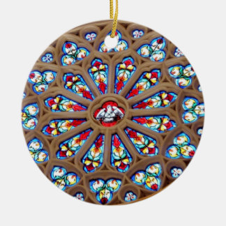St. Joseph's Cathedral - Stained Glass Window Ceramic Ornament