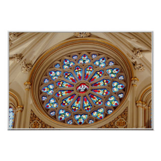 St. Joseph's Cathedral - Stained Glass Window Poster