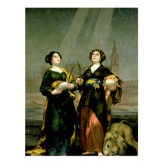St. Justina and St. Rufina, 1817 Postcard