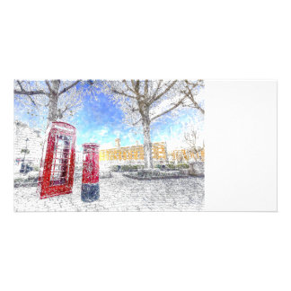 St Katherines Dock London Art Personalized Photo Card