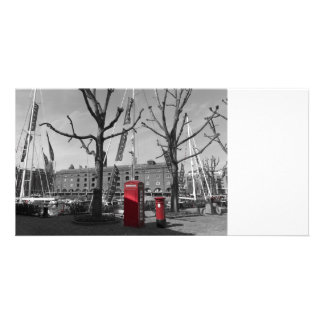 St Katherine's Dock Custom Photo Card