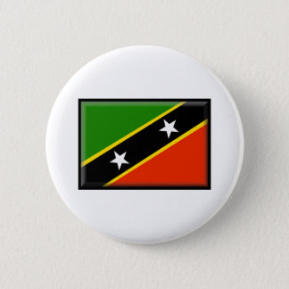 St. Kitts and Nevis Flag 6 Cm Round Badge