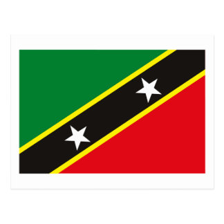 St. Kitts and Nevis Flag Postcard
