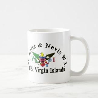 St. Kitts and Nevis / US Virgin Islands Coffee Mug