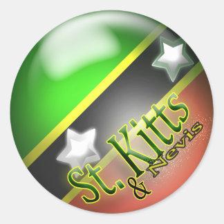 St Kitts & Nevis Patriotic Sticker