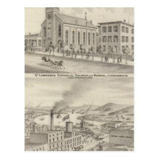St Lawrence Catholic Church and School Postcard