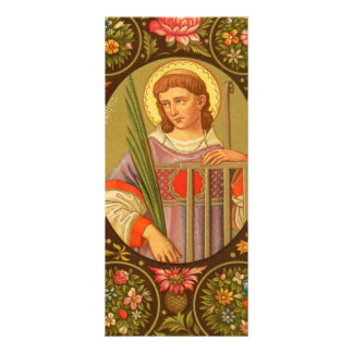 St. Lawrence of Rome (PM 04) Customizable 10 Cm X 23 Cm Rack Card
