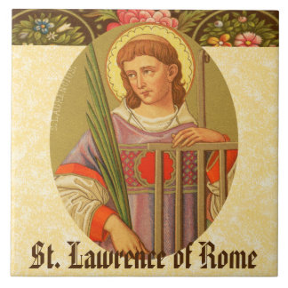 St. Lawrence of Rome (PM 04a) Large Square Tile
