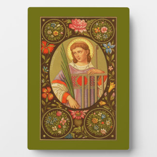 """St. Lawrence (PM 04) 5""""x7"""" Plaque #1 with Easel"""