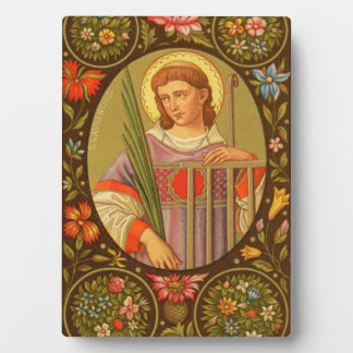 """St. Lawrence (PM 04) 5""""x7"""" Plaque #2 with Easel"""