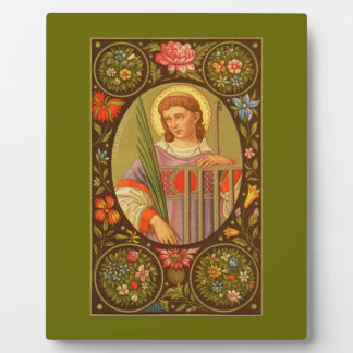 """St. Lawrence (PM 04) 8""""x10"""" Plaque #1 With Easel"""