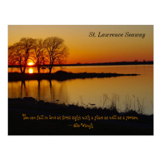 St. Lawrence Seaway Postcard at Sunset