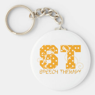 st letters orange and white polka dots key ring