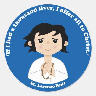 St. Lorenzo Ruiz Classic Round Sticker