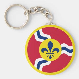 St. Louis Aero Force Roundel Basic Round Button Key Ring