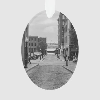 St Louis Alley Grayscale Ornament