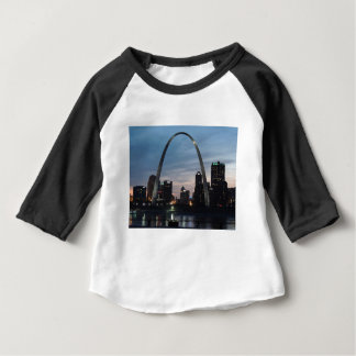St Louis Arch Skyline Baby T-Shirt