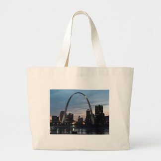 St Louis Arch Skyline Large Tote Bag