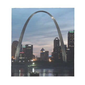 St Louis Arch Skyline Notepad