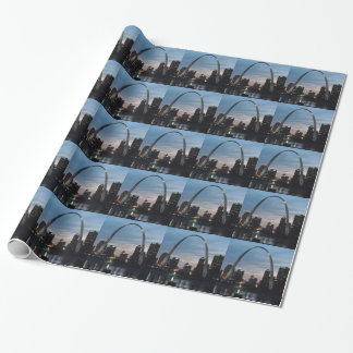 St Louis Arch Skyline Wrapping Paper