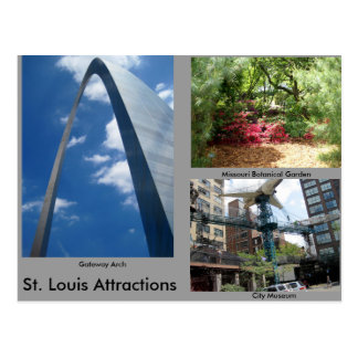 St. Louis Attractions Postcard