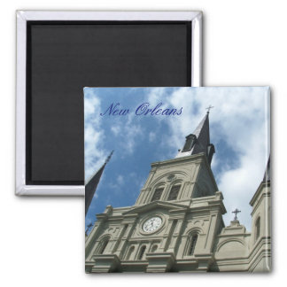 St Louis Cathedral Church in New Orleans Square Magnet