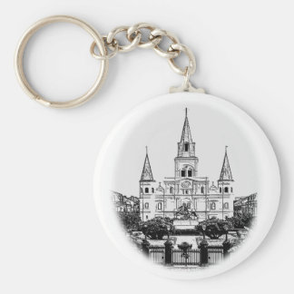 St. Louis Cathedral Jackson Square Sketch Key Ring
