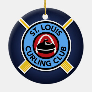 St Louis Curling Club Ceramic Ornament