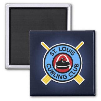 St Louis Curling Club Square Magnet