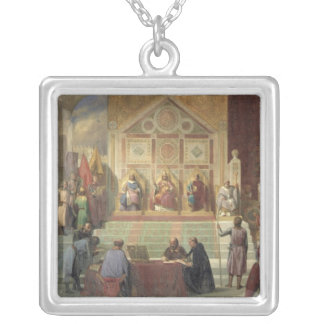 St. Louis  King of France Silver Plated Necklace