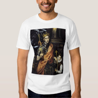 St Louis, King of France, with a Page Shirt