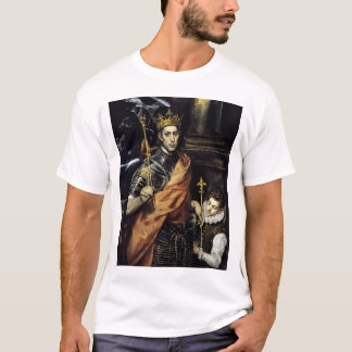 St Louis, King of France, with a Page T-Shirt