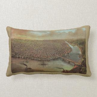 St. Louis Missouri by George Degen from 1873 Throw Pillow