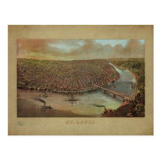 St. Louis Missouri by George Degen from 1873 Postcard