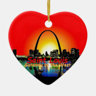 St. Louis Missouri Ceramic Ornament