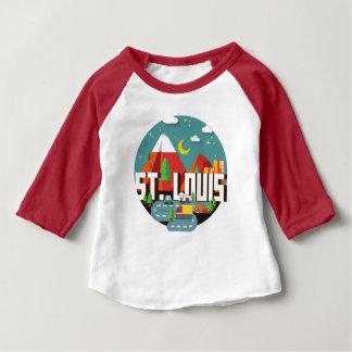 St. Louis, Missouri Geometric Design Baby T-Shirt